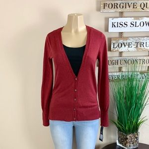 NWT. MOSSIMO | Red Button Up Cardigan